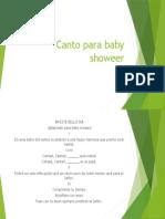 Canto para baby showeer