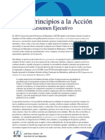 Principles to Actions Executive Summary (Spanish)
