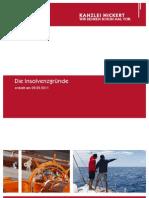 NICKERT Bericht Insolvenzgründe