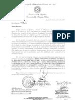 Nota de la SFP al Director Nacional de Aduanas