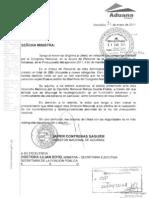 Nota del Director General de Aduanas a la SFP