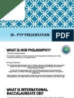 Curriculum Night IB Info.ppt