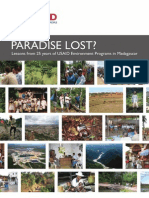 Paradise lost? Lessons from 25 years of USAID Environment Programs in Madagascar - 2010