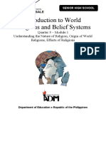 WRBS11 Q3 Mod1 Understanding the Nature of Religion Origin of Religions