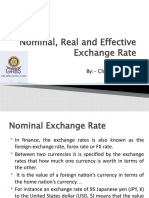 Nominal, Real and Effective exchange rate