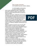 PARÁFRASIS DEL PADRE NUESTRO