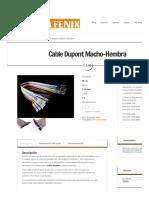 Cable Dupont Macho-Hembra _ Nextia Fenix