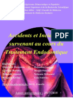Cours OCE - 4ème - Accidents et incidents survenant au cours du traitement endodontique(1)