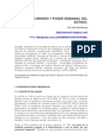 CANON MINERO Y PODER DEMANIAL DEL ESTADO