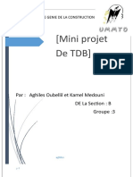 DEPARTEMENT DE GENIE DE LA CONSTRUCTION