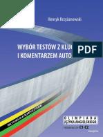 Wybór testów - Krzyżanowski (with key)