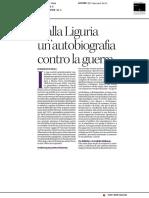 Dalla Liguria un'autobiografia contro la guerra - Il Manifesto del 29 novembre 2020