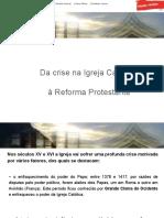 Da crise na Igreja Católica à Reforma Protestante