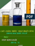 bai1-oxit kim loai phan ung voi axit loai 1