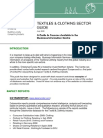 Textile  Clothing Sector Guide July 2009