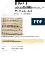 Philharmonie à la demande - L'Art de la fugue de Johann Sebastian Bach