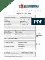 Main Turkish Visa Application Form