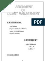 ASSIGNMENT on talent mang. kuldip