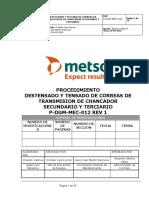 P-DGM-MEC-012-Proc. Destensado y tensado de correas de  transmisión de chancador secundario y terciario Rev 1