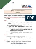 Fiche 1 - Pièces constitutives dossier pédagogique DAP Blanche