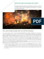 CAUSES ET CONSÉQUENCES DES INCENDIES DE FORÊT
