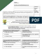 Guía de trabajo domiciliaria de Inglés