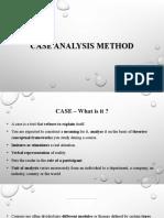 Short - Case Analysis Method