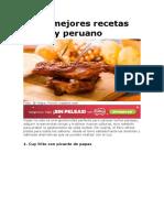 Las 5 mejores recetas con cuy peruano