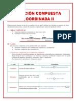 ORACIÓN COMPUESTA COORDINADA II