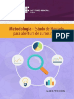 Metodologia - Estudo de Mercado para abertura de cursos no IFS - 2016