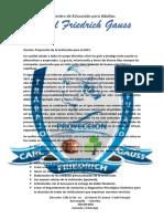 Informe de proyección del centro de edicacion para Adultos Carl Friedrich Gauss 2021 pdf.pdf