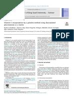 Vitamin C encapsulation by a gelation method using deacetylated glucomannan as a matrix