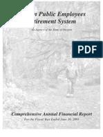 Oregon Public Employees Retirement [PERS] 2001
