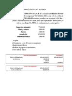 Tarea de contabilidad Propiedad, Planta y Equipo
