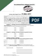 Anmeldung Deutscher Lemberger Preis