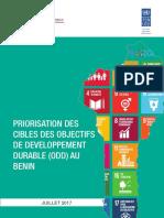 Rapport de Priorisation Des Cibles Des ODD Au Benin