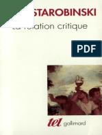 (Tel) Jean Starobinski - La Relation critique-Gallimard (2001).epub