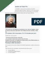 La neuvaine irresistible de Padre Pio