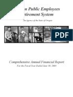 Oregon Public Employees Retirement [PERS] 2003