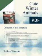 Cute winter animals by Slidesgo.pptx