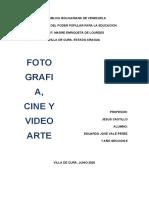 INFORME DE LA FOTOGRAFIA, CINE Y VIDEOARTE