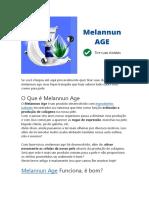Melanun Age - Melanun Age Funciona? Melanun Age Bula,Formula e Onde Comprar Melanun Age