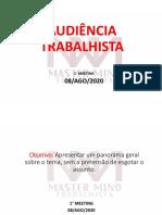 Material Audiencia MasterMind Trabalhista Meeting