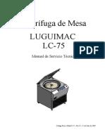 Centrifuga Manual Tecnico Lugimac LC-75 (Rev 1)