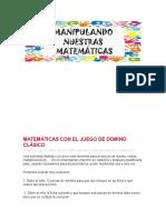MATEMÁTICAS CON EL JUEGO DE DOMINÓ CLÁSICO.docx