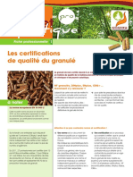 Fiche Propellet Pro 1 Certifications