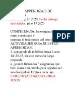 GUIA DE APRENDIZAJE DE RELIGION