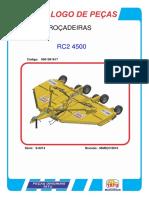 ROÇADEIRA TATU - RC2 4500 - SEM FROTA
