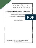 Diálogo, Oraciones y Soloquillos Santa Catalina de Siena