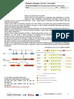 CCficha trabalho nº 3 - Sintese proteica e ciclo celular